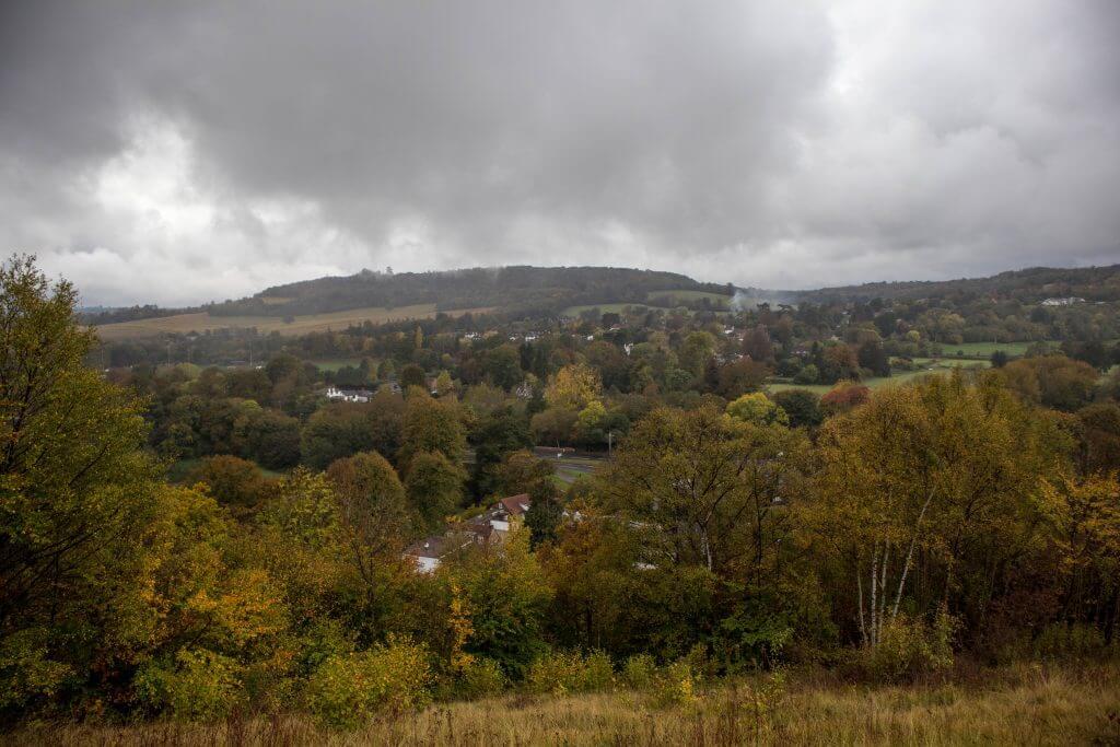 Uitzicht over de Surrey Hills