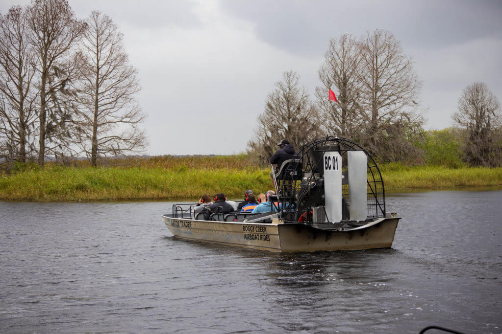 De airboat van Boggy Creek