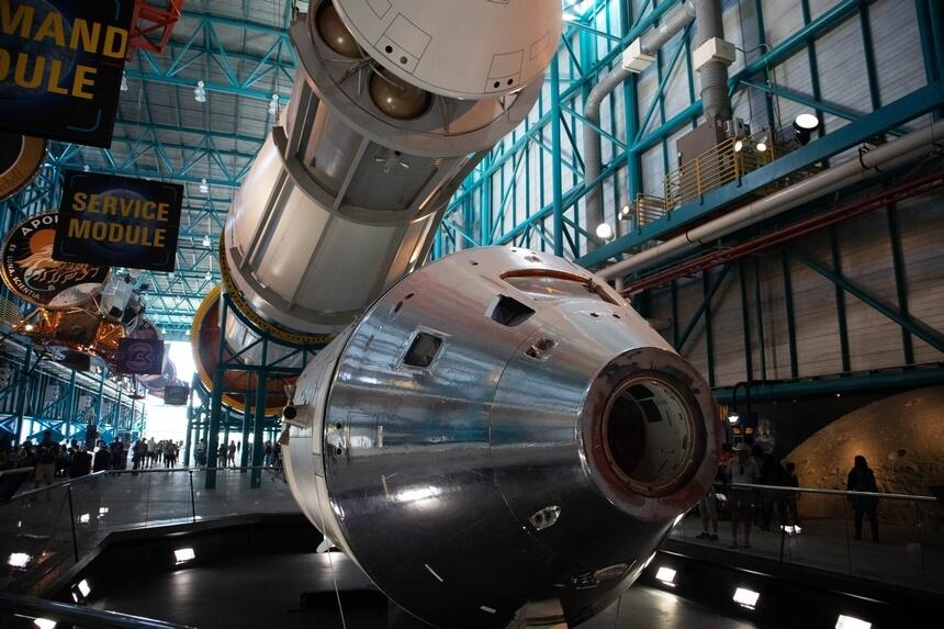 De capsule van de Apollo