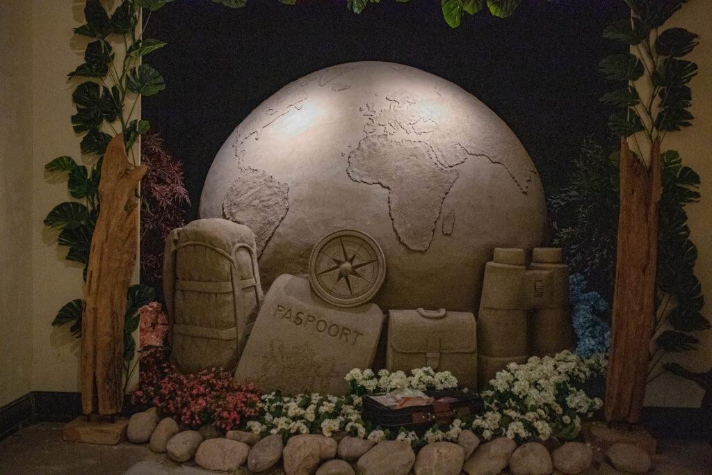 Het thema van het zandsculpturenfestijn 2019 is Reis om de Wereld