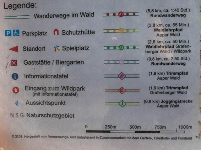 4 wandelroutes in het Aaper Wald