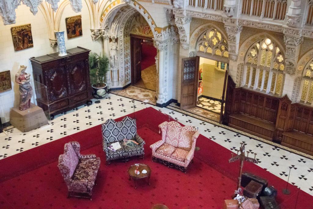 De main hall van kasteel De Haar
