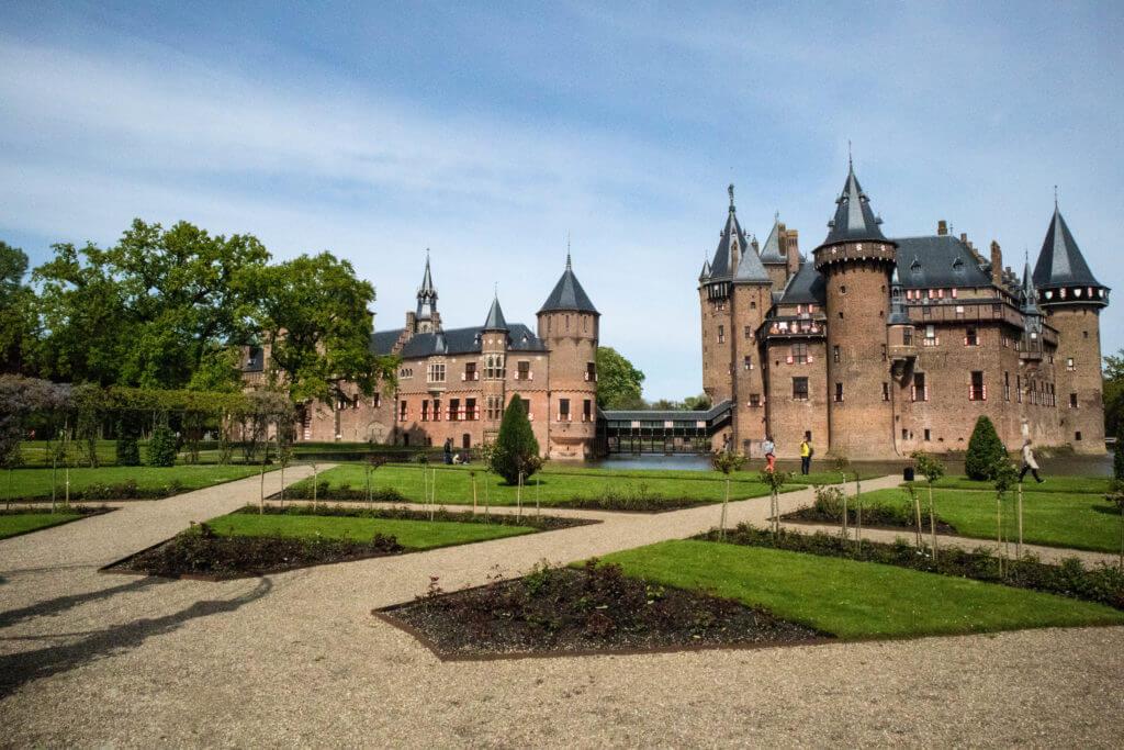 Een klein deel van de kasteeltuinen