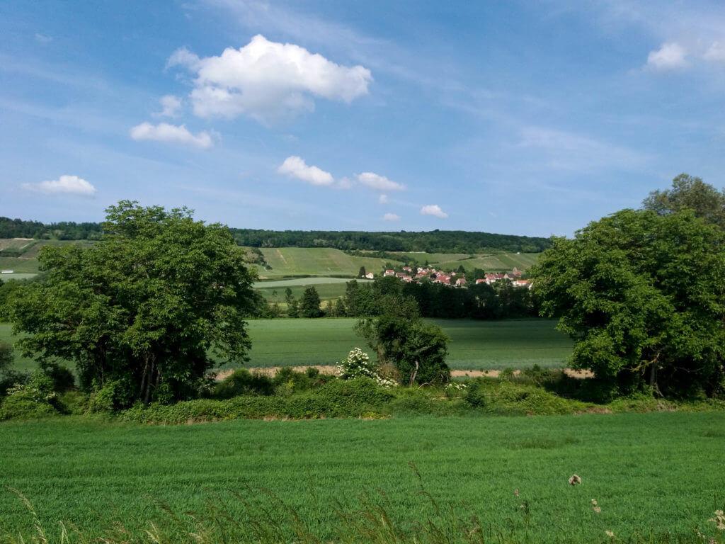Bergen en dalen in de Champagne streek