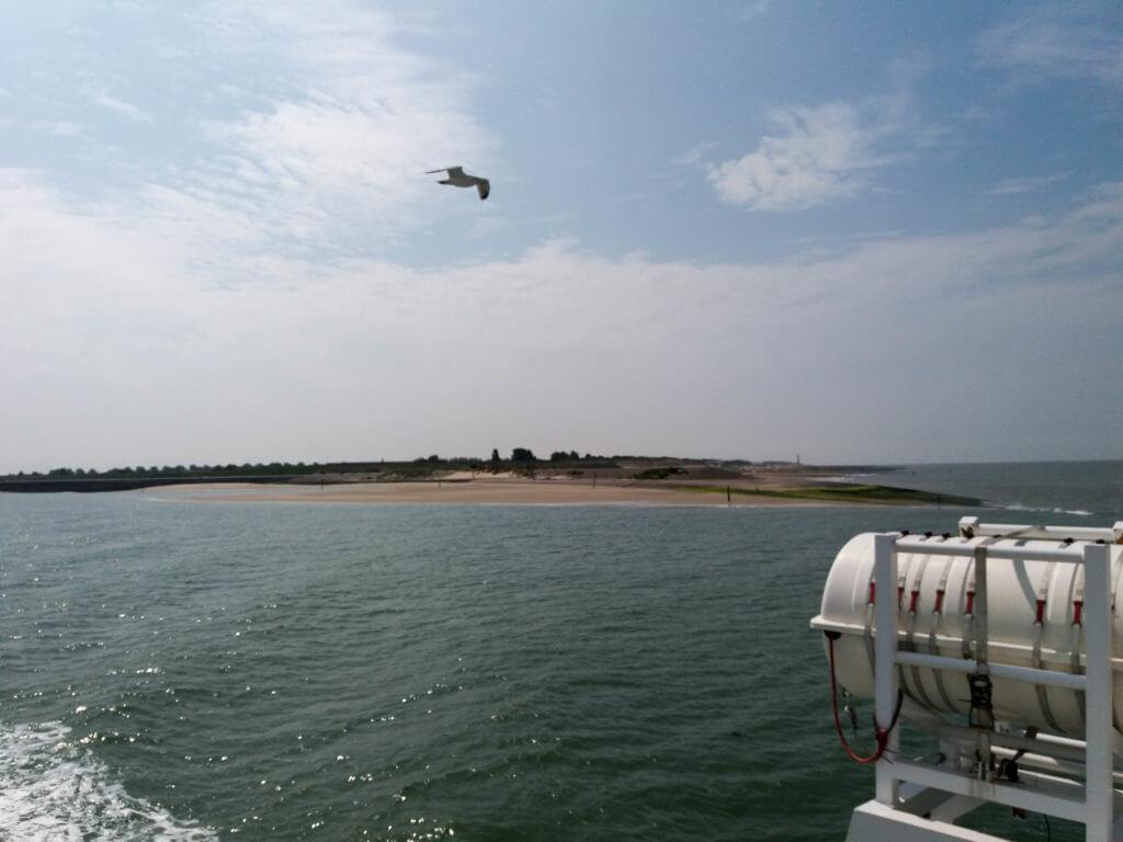 Uitzicht vanaf de boot richting Breskens