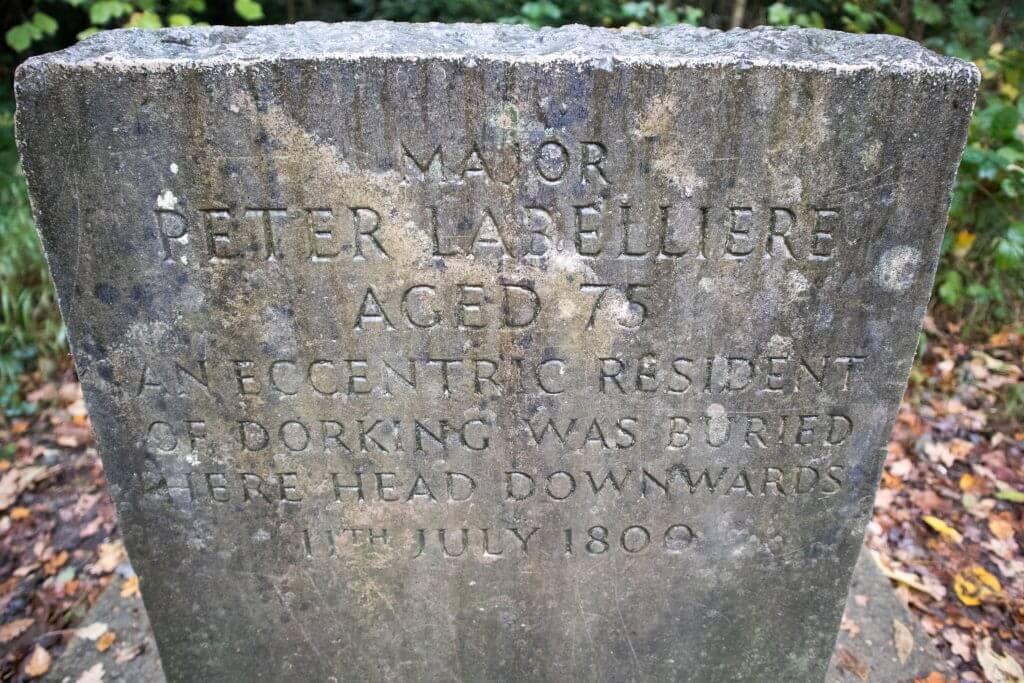 Het graf van Peter Labelliere