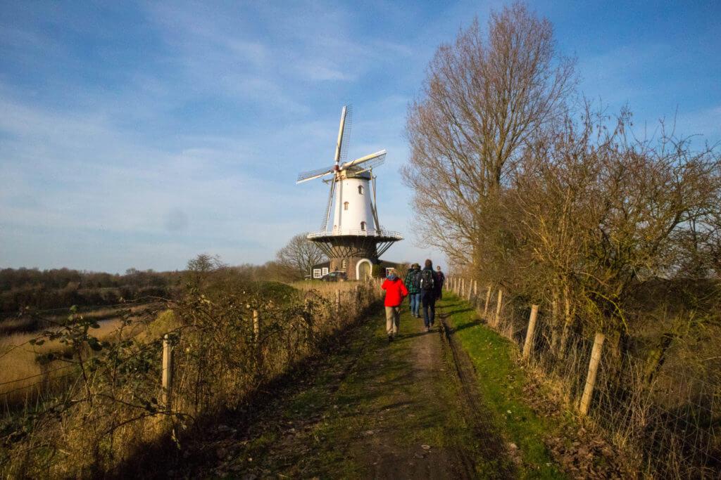 Wandelroute langs de molen in Veere