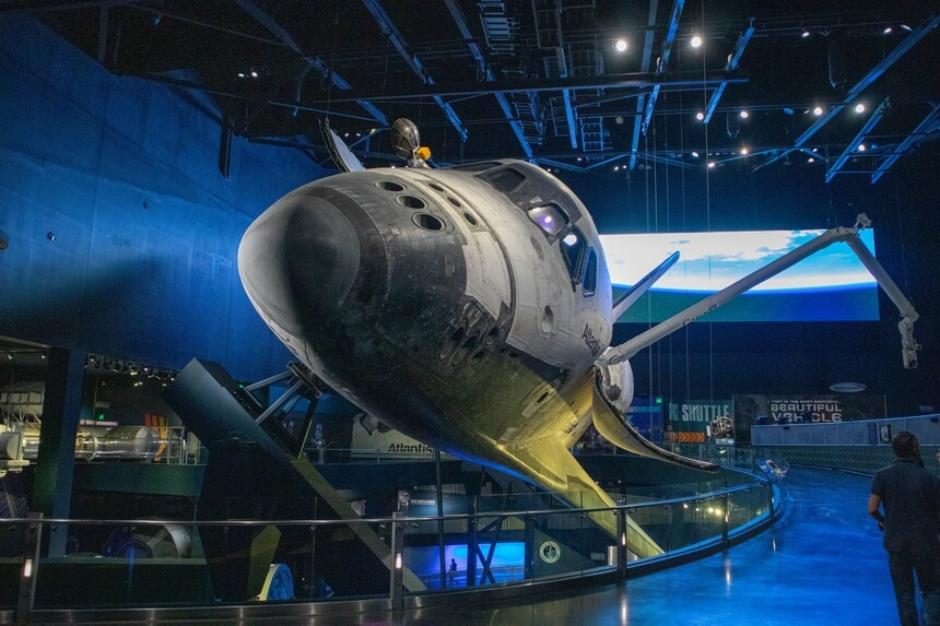 De Atlantis is de vierde Space Shuttle