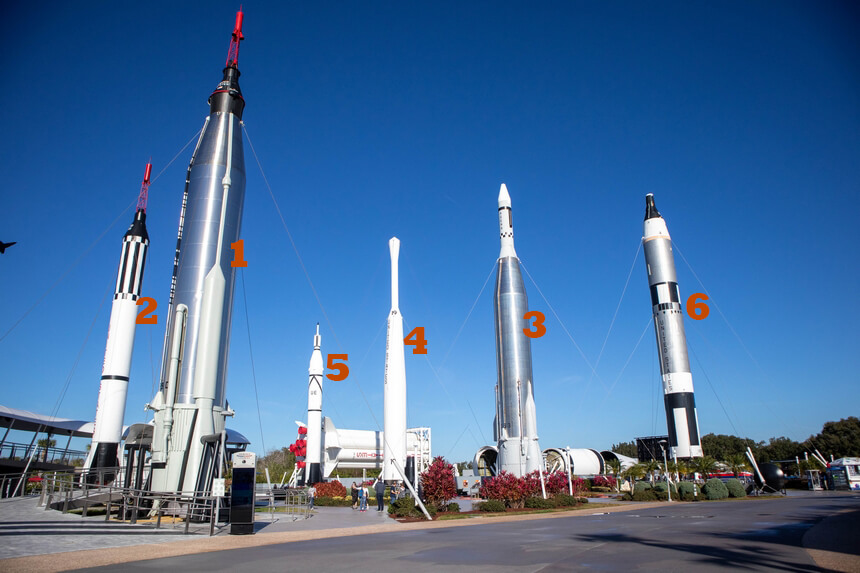 Rocket Park in Kennedy Space Center