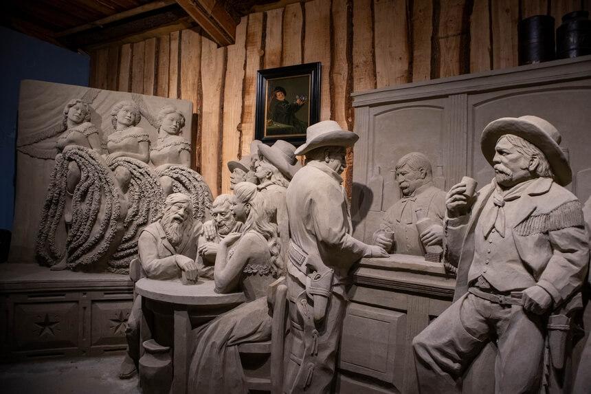 Het wilde westen op het zandsculpturenfestijn