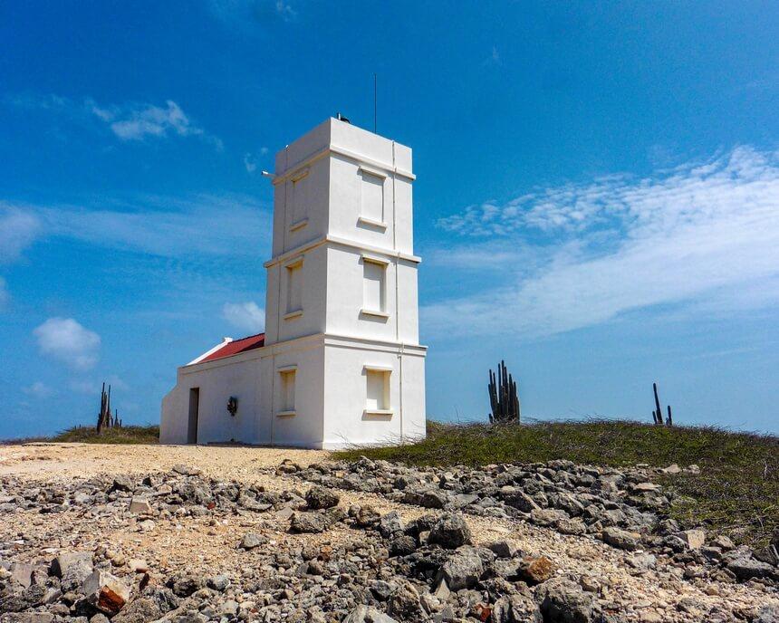 De nieuwe vuurtoren in Washington Slagbaai Nationaal Park Bonaire