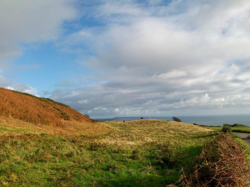 Uitzicht op zee bij Abbotsbury