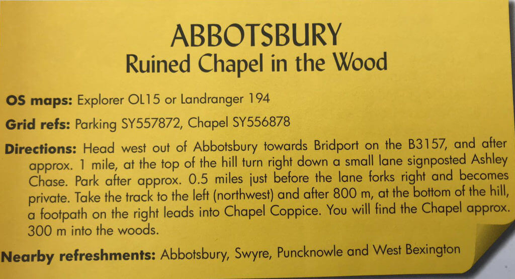Beschrijving uit het boekje Secrets of West Dorset