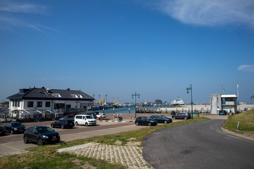 De haven van Oudeschild op Texel